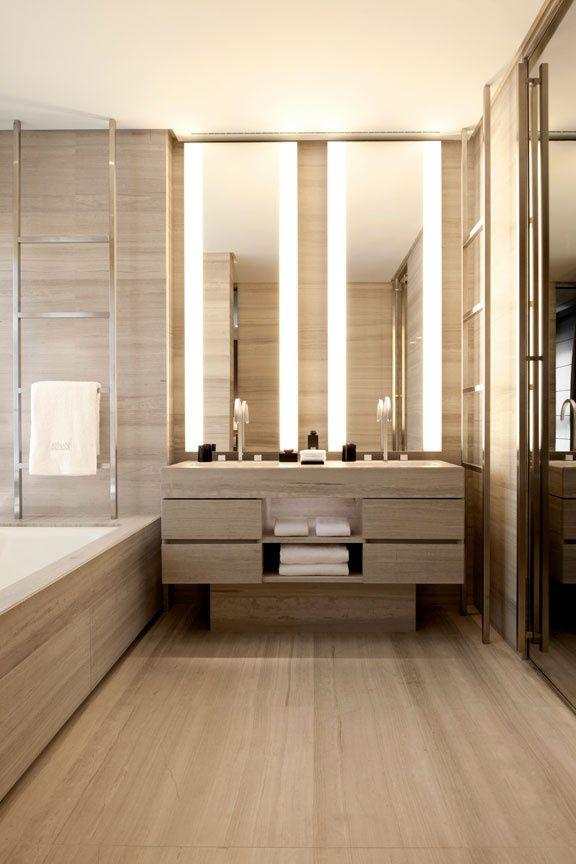 design interior baie - sisteme de iluminat oglinda