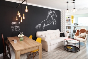 amenajari interioare sufragerie, living modern