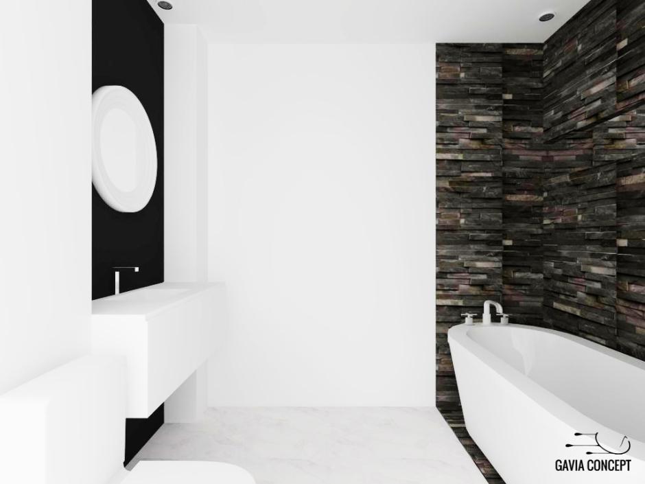 design interior baie piatra