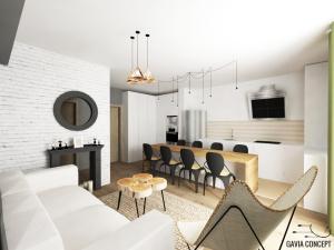 design de interior natural lemn caramida