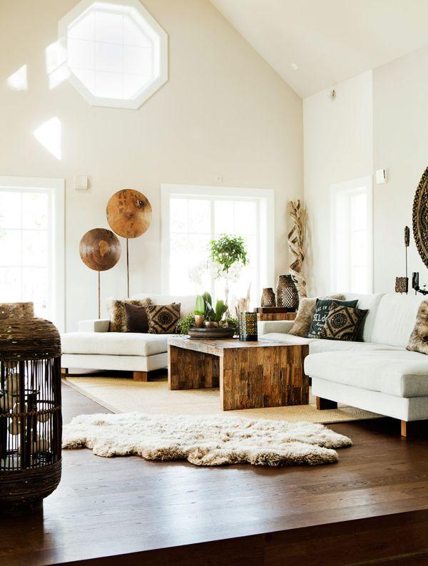 design interior alb calduros lemn natural