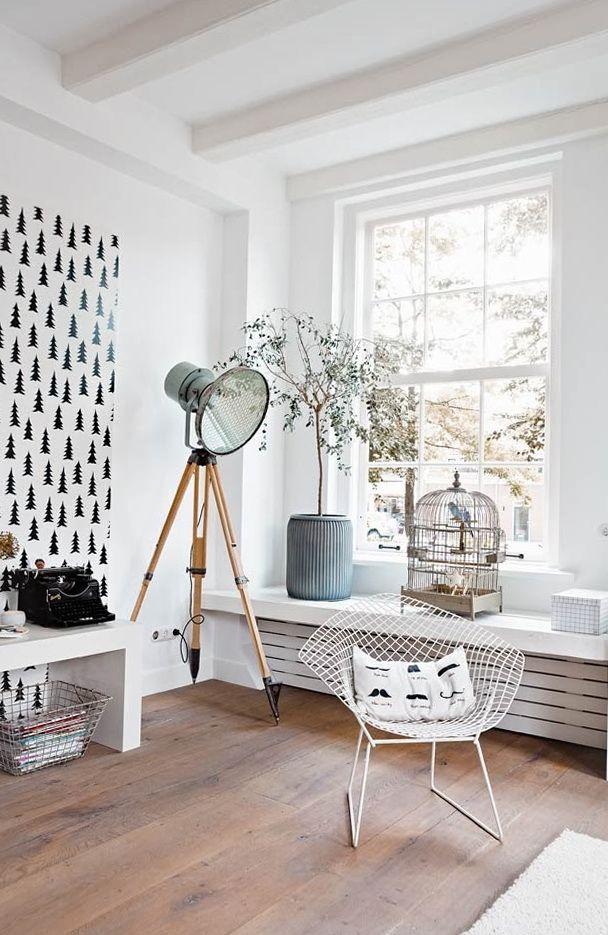 design interior amenajare in alb stil scandinav parchet nuc