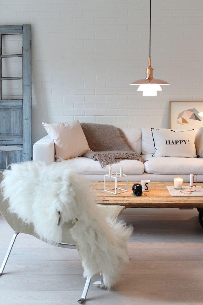 design interior caramida alba corp iluminat pendul cupru