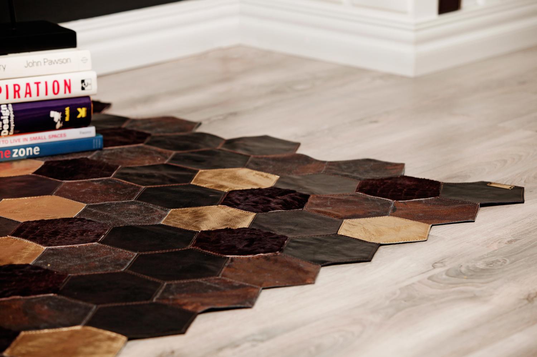 design interior covor piele si blana