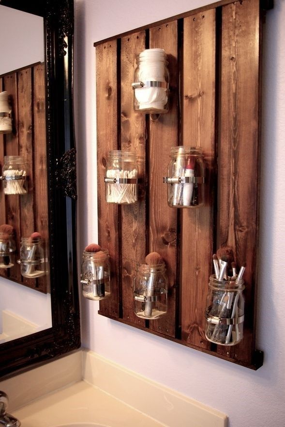 design interior etajera paleti lemn