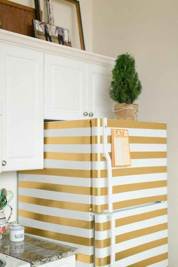 design interior bucatarie frigider personalizat