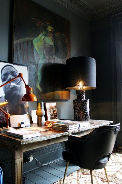 home office design interior birou masculin inspirational