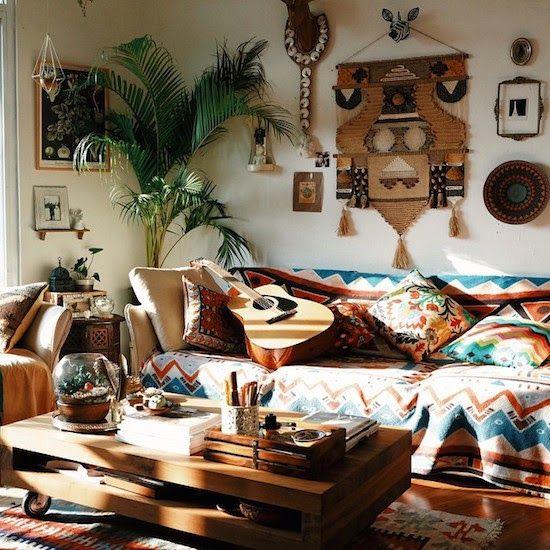 indie interior design colorful colorat patterns