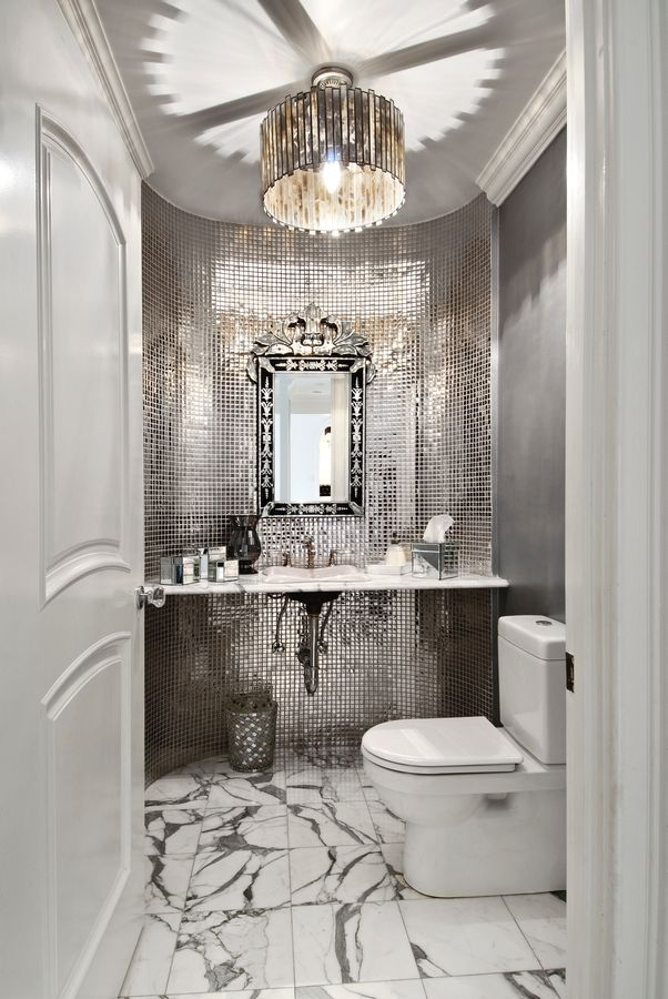 interior design shiny bathroom baie luxury
