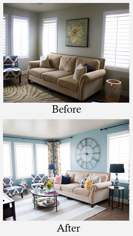 living inante si dupa design interior