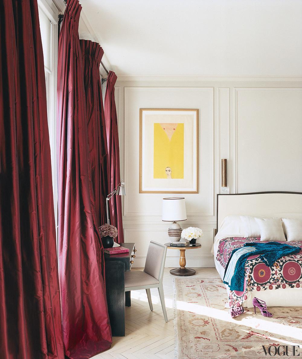 draperii visinii dormitor elegant