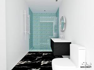 design interior baie dus modern