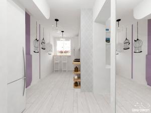 design interior pereti albi