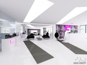 Design comercial modern alb negru gri