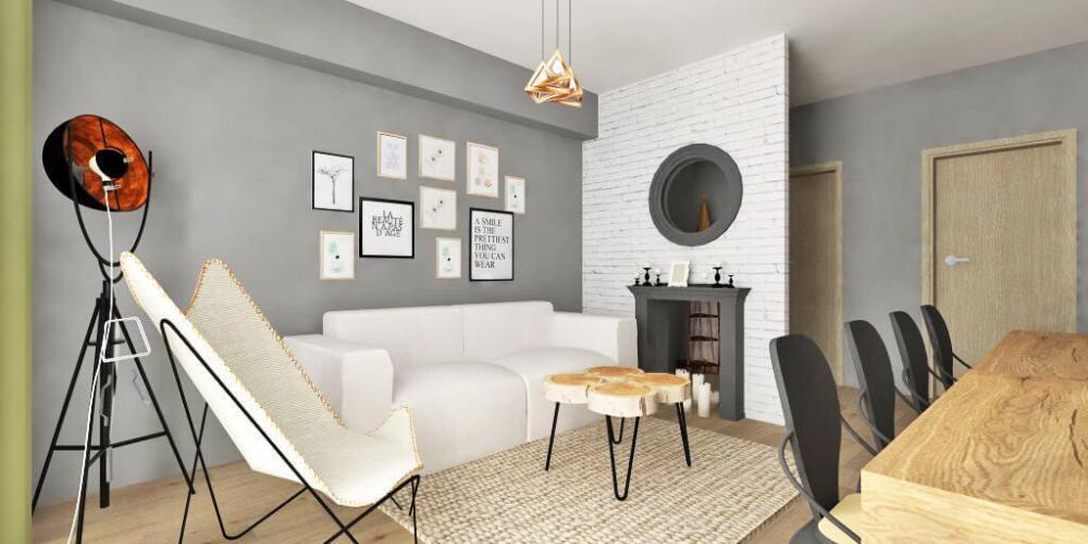design interior apartament 2 camere living dining open space