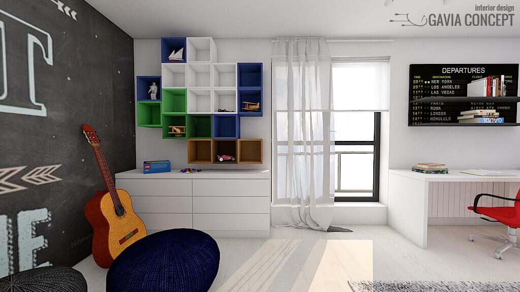 camera baiat calatorii albastru