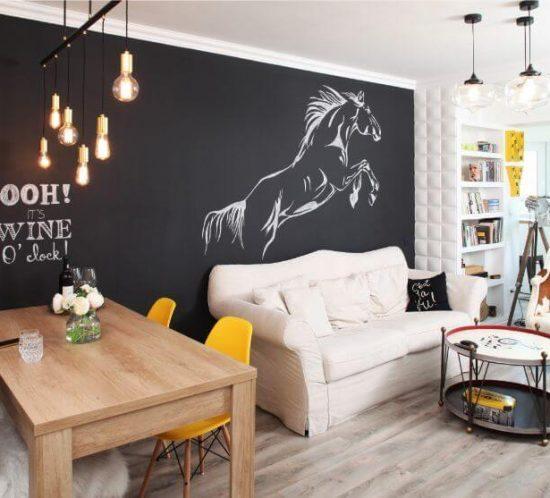 apartament iancului elegant, calatorii, blackboard, tabla scris, bucatarie eleganta dormitor alb
