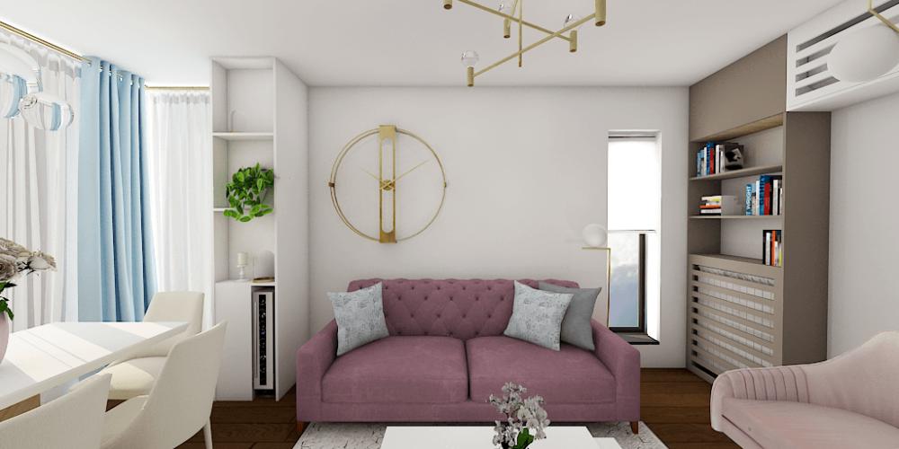 apatament 3 camere transparent residence mov gri elegant semineu romantic