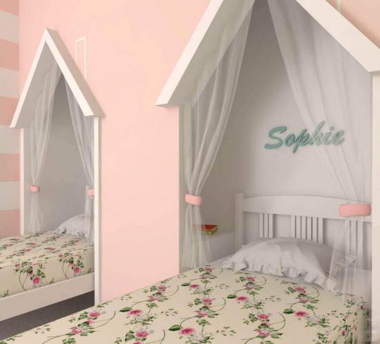 dormitor doua casute fete roz
