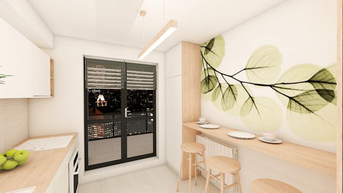 apartament 3 camere pastel alb roz camera copil calatorii