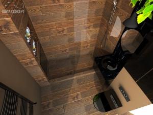 Gresie faianta aspect lemn sanitare negre