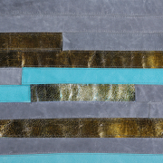 covor piele naturala turquoise
