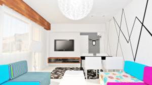 design interior mobila living dungi alb negru