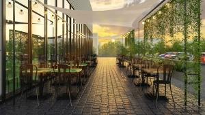 design interior stil industrial cafenea terasa