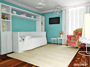 design interior dormitor copil nounascut