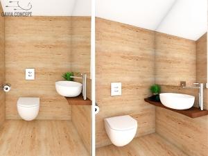 design baie apartament lemn natural