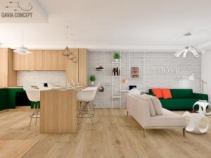 design interior living lemn natur calduros