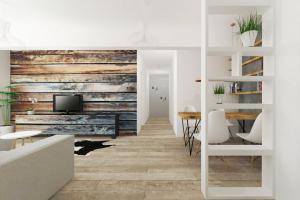 design interior lambriu lemn naural