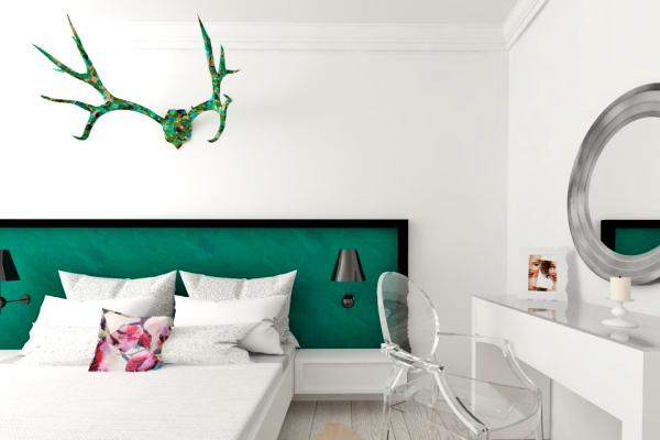 design interior dormitor modern verde