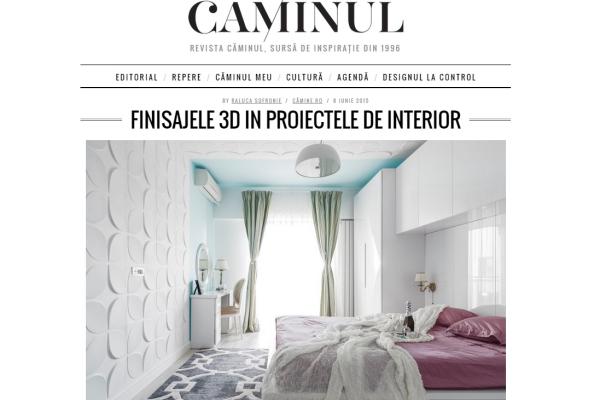 revista caminul design interior panouri 3D