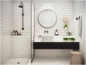 design interior baie gavia concept dus oglinda