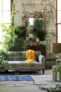 design interior caramida plante