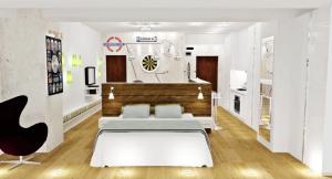 design interior gasoniera open space