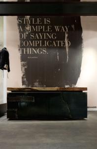 design interior receptie stil industrial