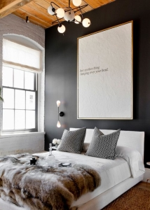 design interior tablou de efect dormitor