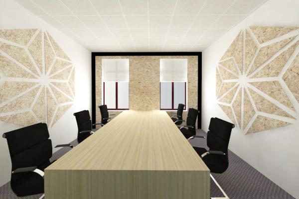 design interior birou OSB