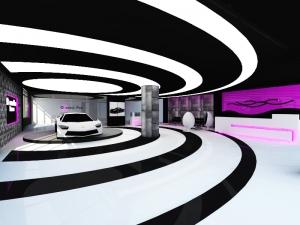 Design interior modern concept futurist auto