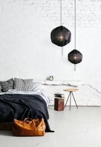 stil masculin scandinav perete caramida alba